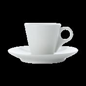 Espressotasse und Untertasse konisch