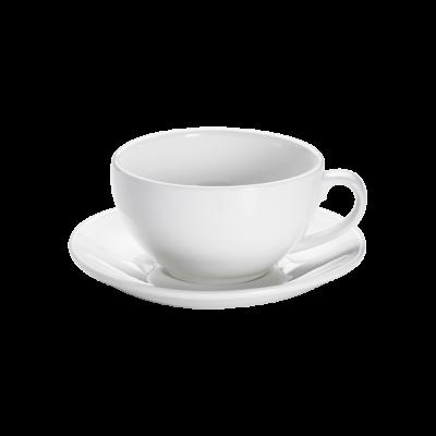 Cappuccinotasse und Untertasse bauchig Basics