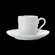 Espressotasse und Untertasse zylindrisch
