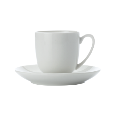 Espressotasse und Untertasse bauchig