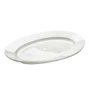 Platte oval mit Fahne Basics