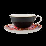Teetasse Bloems, schwarz