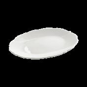 Platte oval White Rose