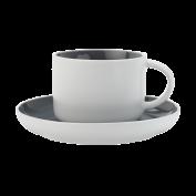 Tasse und Untertasse Tint dunkelgrau