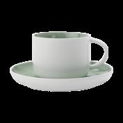 Tasse und Untertasse Tint hellgrün