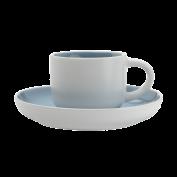 Tasse und Untertasse Tint hellblau